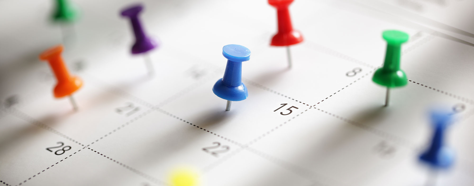 Un calendario con le date degli eventi